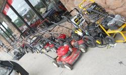good day and thanks for looking. the last time we posted our used lawn equipment it sold out fast !!!! what we have for sale to day!!!! push mowers price start at $90.00 and go up to $ 250.00 each!!!!
