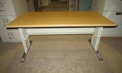 Used office furnishings: metal desk(s), wooden desk(s), workplace chair(s), table(s). Products are made use of and have various dents, stains and scratches.  The wooden system would make a nice comput