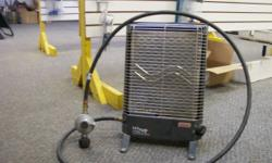 used Olympian Wave 6 Catalytic Heater, comes with LP line and regulator, just needs BBQ style propane tank connected to run. $230 if you don't need the line and regulator. Was used to heat office, but