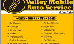 Valley Mobile Auto Service DBA Valley mountain auto service is doing $31.99 oil changes for a limited time. Stop in and get your oil changed and a free brake inspection. This offer excludes synthetic