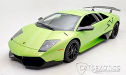 EXTREMELY RARE 2010 Lamborghini Murcielago LP670-4 SV finished in the RARE special ordered Verde Ithaca 3 stage pearl paint. Equipped with the optional large wing and side application SV stickers. Cur