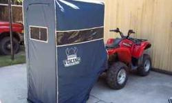 Viking ice house fishing shanty's for sale. Have several of these to sell. All new in box. Easily mounts to quad for quick and easy set up. Once attached to the quad it is very simple to put up. Pleas