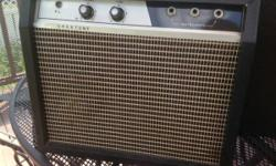 """Vintage 70s CRESTONE guitar amplifier. Made in Japan. Strong State amp about 2-3 watts. New filter caps and 3-prong plug included. Huge tone on 10. Seems like NY's """"Cinnamon Girl."""" Measures 15""""x13""""x6"""""""