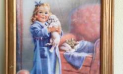 "Lovely vintage art. $20 artist Isabel Rollins Harris size 15""x18"""