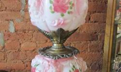 """Classic Gone with the Wind Lamp, c. 1960's. Dimensions-- 29"""" tall, 10"""" size.  Product being offered by: Madison Station Antiques found at 110 Main St. Madison, AL 35758. Please react to our ad via ema"""