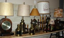 A collection of rare vintage nautical lamps, barometers, clocks, wall dcor, and collectibles. See all my items at : www.seamynauticalvintage.com (contact me through my website)