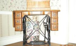 RECONDITIONED AND PROFESSIONALLY REFINISHED. DEFINITELY BEAUTIFUL. YOU MUST SEE IT TO BELIEVE IT. GORGEOUS WROUGHT IRON WORK.
