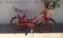 8-30-1982 Strawberry Shortcake Bike by Hedstrom Co. #91652. Works great and is in good shape for it's age. Cash & local pickup.