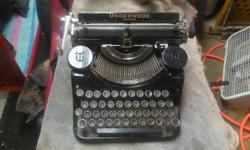 Have a nice Underwood portable typewriter from 1935 I would like to sell. In pretty decent shape but will need cleaning and oiled (keys stick but free up easily), also missing 2 keys and the front rub