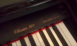 Classico 300 Digital Piano has a full weighted keyboard. Offers presets of Piano, Electric Piano, Harpsichord, Vibraphone, Jazz Organ and Strings. Likewise has numerous results (ex: hall, phase, room,