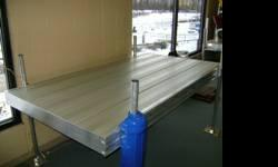Desired light-weight light weight aluminum watercraft dock.  a minimum of 8 ft. long no greater than two 10 ft. sections.  3 or four ft. large parts ok.  extra hardware would certainly be wonderful ye
