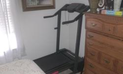 Selling a nice Weslo treadmill.tells time, ,distance and calories burns etc.G5.9 etc.fold up.Interested call 717 697 2400