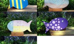 For your factor to consider are these fantastic handmade whimsical fish! These rustic wooden fish are indicated as wall surface danglings, but can also be made use of as counter, shelf or desk leading