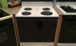 Whirlpool Black & White Electric Range Stove Oven - USED Whirlpool Freestanding Electric Range Black & White 4 Coil Burners Visit Pochel's Appliance for all your used appliance needs. An entire wareho