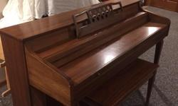 Whitney by Kimball spinet upright piano.  All keys are in good working condition.  The original bench is included along with many books.  The piano is located in Onsted Michigan in