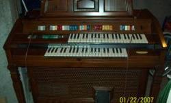 This is a Whurlitzer Church Organ From the 80's. This sold for $3,800. It is in great shape and works great,One of the flat foot pedals is broke but you can replace them very easy and they are only 10