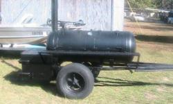 150 gallon tank Just had it built never had a fire built in it has a wood box on other sise 912-286-1812 ask for Ralph // //]]> Location: Waycross Ga