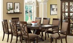 Moving soon and need to discard of this Furniture of America Woodburly 7-Piece Dining Set with Removable Leaf ASAP! Seldom used over a 2-year period, only minor dings with no scratches, PRESTINE condi