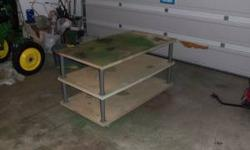 for sale is a nice work table or bench its three tier and is on casters $50 440 645 7106 call or txt Location: orwell