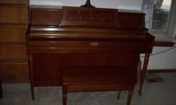 Only selling it because we are moving and can't take it with us. Will need tuned after moving. Some damage on the bench...it was that way when I got it several years ago. Asking $500