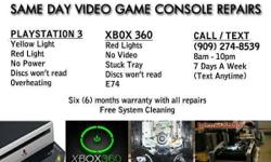 Professional XBOX 360 / PS3 repairs. Is your game console experiencing problems? Not reading discs or playing any games? Having power issues? Flashing red lights? All of these issues can be repaired.