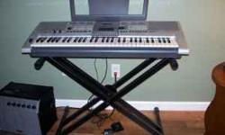 This is a Yamaha PSR-E403/YPT-400 Keyboard. It has barely been used and is in brand new condition. $200 includes the keyboard stand and the gig bag. If you're interested please call or text 402-309-65