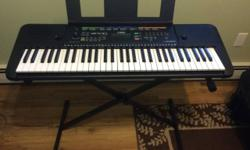 For sale is a Yamaha PSRE253 61-Key Portable Keyboard w/stand. I got this as a gift and literally used it twice, it is in perfect condition. $100 or best offer. Please feel free to call/email me if yo
