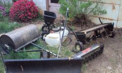 For sale is 2 Spike Rollers 1 Sprayer 1 Seeder 1 Snow Blade 1 Rolling Wheel We are asking $600 for everything, but will take offers and will negotiate. Email, call or text questions to 540-406-2074 Al