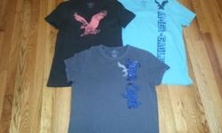 YOUNG MEN'S SHIRT'S...AMERICAN EAGLE , UNDER ARMOUR, LEVI, BANANA REPUBLIC & NIKE All are in excellent condition. Grandson just out grew them. Worn very little. Size - X Small, Small & Mediums All shi