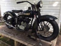 1936 VLH Flathead Harley Davidson 9 bolt top end 80