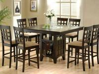 9 pc. Pub Style Dining Set in Cappuccino  Product ID