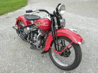 *~*~^%@~*Is a 1947 Harley Davidson WL Solo. The engine