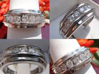 I am selling this Amazing Round Cut diamond mens