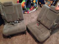 3rd Row split 50/50 Gray fabric seats for 2000-2006