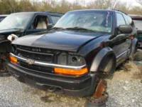 1999 chevy s10 blazer zr2 4x4 motor and trans is