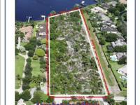 Excellent waterfront parcel on the Loxahatchee River