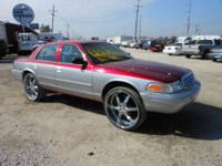 "2001 crown victoria donk. Car has 26"" rims, 2 12"""