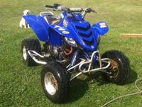 The Yamaha is a 01 raptor 660 has a couple bolts