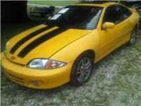 02 CAVALIER LS YELLOW FOR PARTS OR REBUILD NEEDS MOTOR