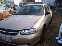 2002 Chevy Malibu just came in through the gates, all
