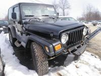 We have actually just gotten this 2002 Jeep Wrangler X,