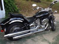 02 Yamaha V Star 1100. Bike has 19,745 miles. Only