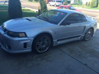 This 04' Sliver Mustang has a full bodykit and sites on