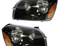 Dodge Magnum Headlights Headlamps w/Black Background