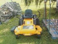 approx 2006 cub cadet zero turn riding mower 22hp