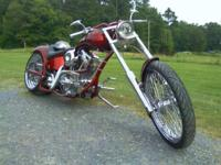 Bike is candy apple red with no damage. Chrome is in