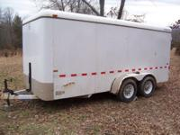 Heavy duty 2005 CM 16 Ft. enclosed trailer , two 4500