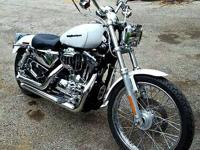 Pearl white and chrome! 2006 sportster 1200 runs and