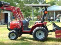 2006 massey ferguguson compact tractor and loader: box