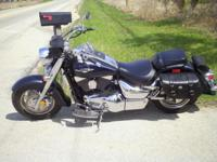 2006 Suzuki boulevard dark blue and charcoal grey ( two